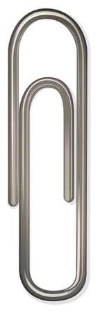 articulos oficina: Close up de metal clip de papel ilustración Vectores
