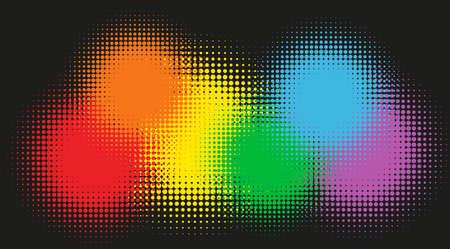 rainbow: Rainbow colors in background illustration