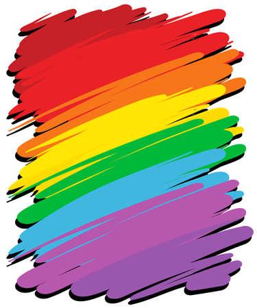 arco iris: Antecedentes de dise�o con la ilustraci�n de color del arco iris Vectores