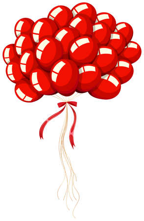 red balloons: Bunch of red balloons illustration