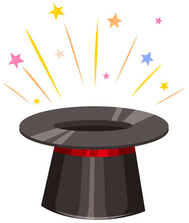 magic hat: Close up magic hat illustration Illustration