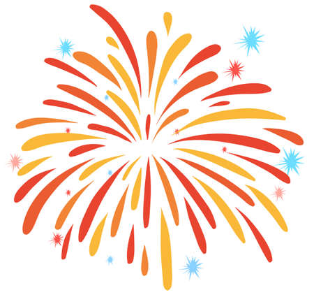 Close up firework on white illustration Illustration