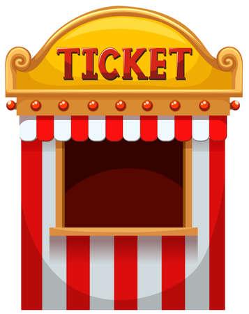 fondo de circo: Cabina de boleto en la ilustración de carnaval