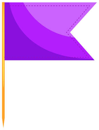 close up food: Food flag in purple color illustration