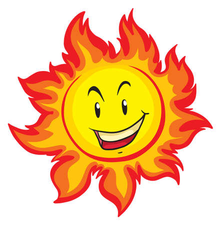 Sun with happy face illustration
