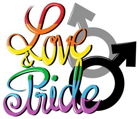 lesbienne: Amour et affiche de fiert� illustration Illustration