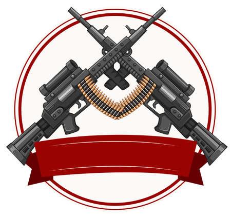 Logo design with fireguns illustration