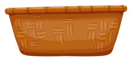 empty basket: Empty basket on white illustration Illustration