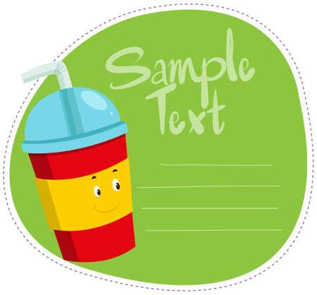 soft drink: Border design with soft drink illustration Illustration