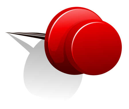 sharp: Sharp pin in red color illustration