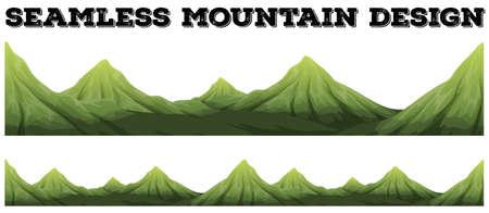 Seamless mountain range design illustration