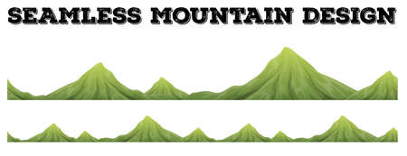hill top: Seamless mountain range design illustration