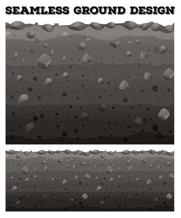 terreno: Terra senza soluzione di continuità con diversi strati illustrazione Vettoriali