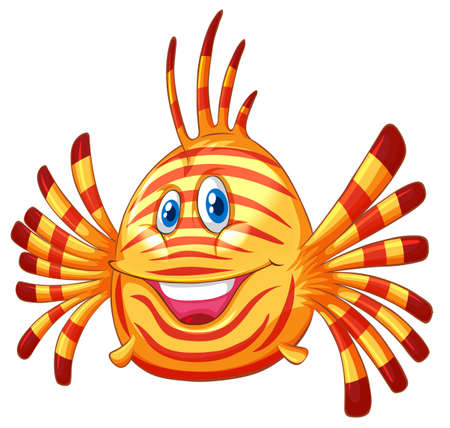 fish clipart: Cute fish with happy face illustration Illustration