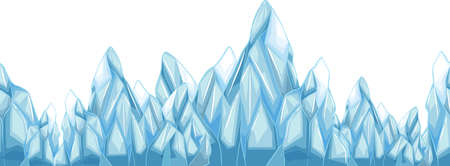 Seamless iceberg with sharp points illustration