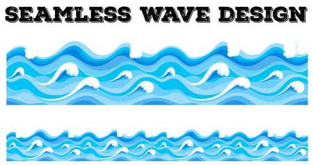 Nahtlose blauen Welle, Design, Illustration