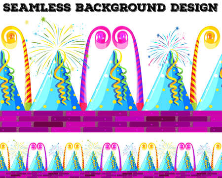 design objects: Seamless design with party objects illustration