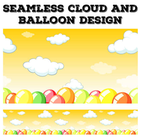 ozone: Seamless cloud and balloon design illustration