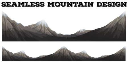 peak: Seamless mountain with snow peak illustration Illustration