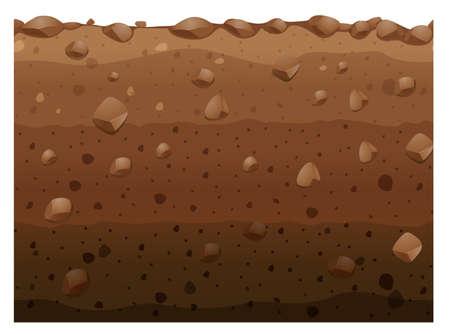 Différentes couches d'illustration du sol Vecteurs