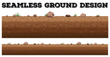 Seamless ground surface design illustration