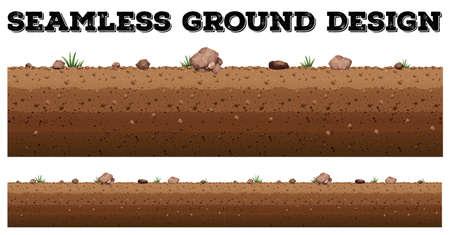 terreno: Senza soluzione di continuità a terra disegno di superficie illustrazione