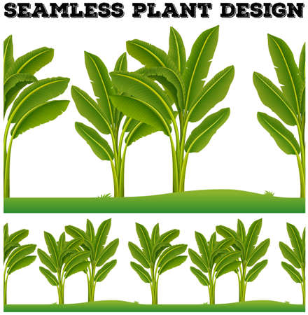 Seamles plants on the ground illustration Illustration