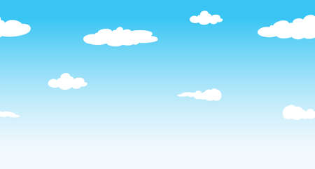 seamless sky: Seamless sky at daytime illustration Illustration