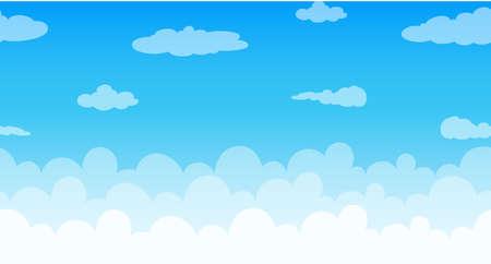 Jednolite chmury unoszące się w niebo ilustracji