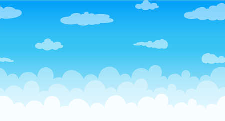 ozone: Seamless clouds floating in the sky illustration