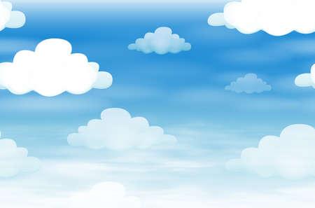 ciel avec nuages: Seamless avec des nuages ??dans le ciel illustration