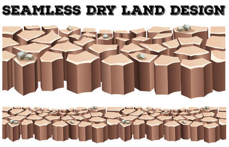 dry land: Seamless dry land design illustration