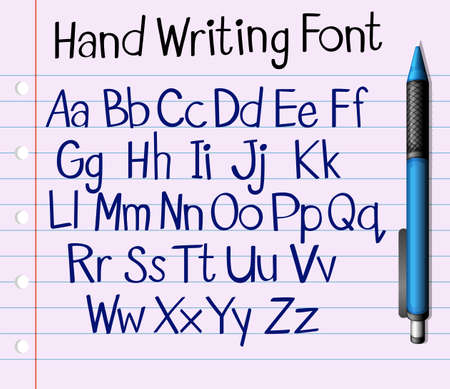 english letters: Handwriting font of English a to z illustration Illustration
