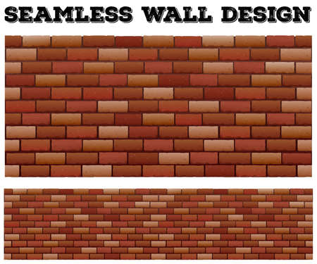 layer masks: Seamless brick wall design illustration