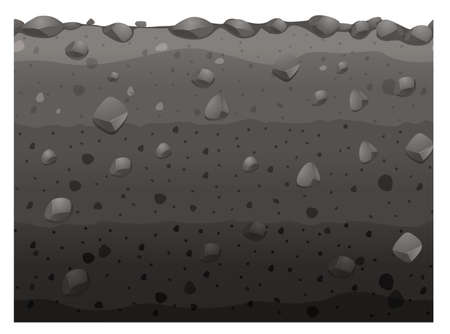 soil texture: Seamless design with black soil illustration