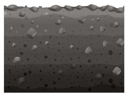 soil: Seamless design with black soil illustration