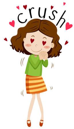 someone: Girl having crush on someone illustration