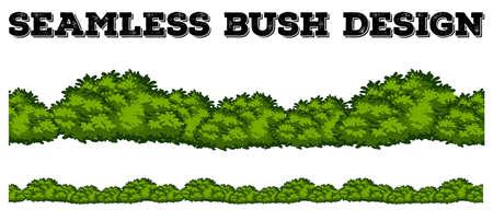 Seamless green bush design illustration