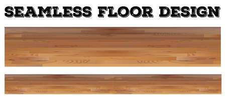 plywood: Seamless wooden floor design illustration