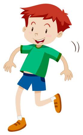 hopping: Little boy hopping alone illustration
