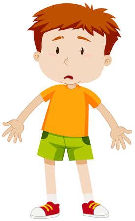 Boy with sad face illustration Illustration