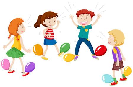 popping: Game of balloon popping illustration Illustration