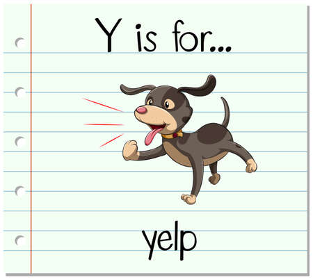 phonetics: Flashcard letter Y is for yelp illustration