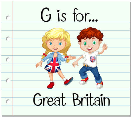 great britain: Flashcard letter G is for Great Britain illustration Illustration