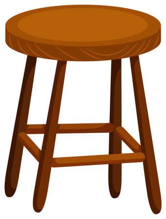 silla de madera: Silla de madera sobre fondo blanco Ilustración Vectores
