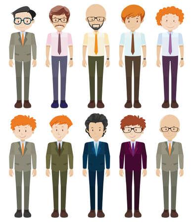 mature man: Businessmen in formal clothes illustration