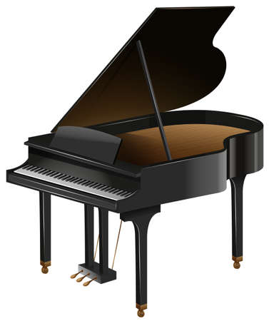 grand piano: Grand piano with the top opened illustration