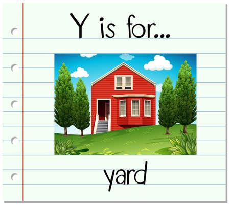 yard: Flashcard letter Y is for yard illustration Illustration