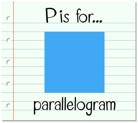 parallelogram: Flashcard alphabet P is for parallelogram illustration Illustration