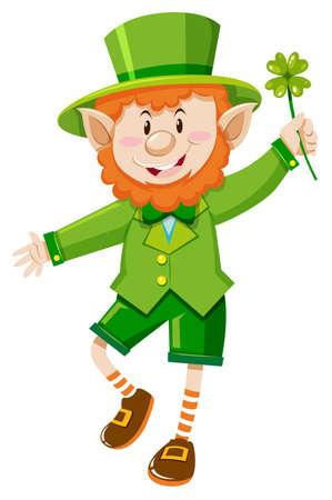 Leprechaun on St Patrick day illustration